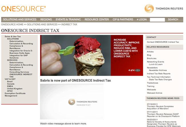 sabrix-website